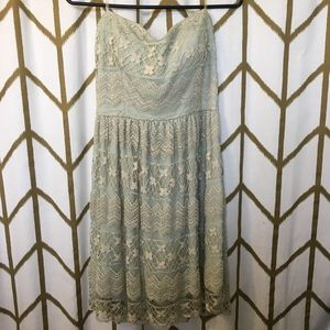 Sage / Mint lace dress